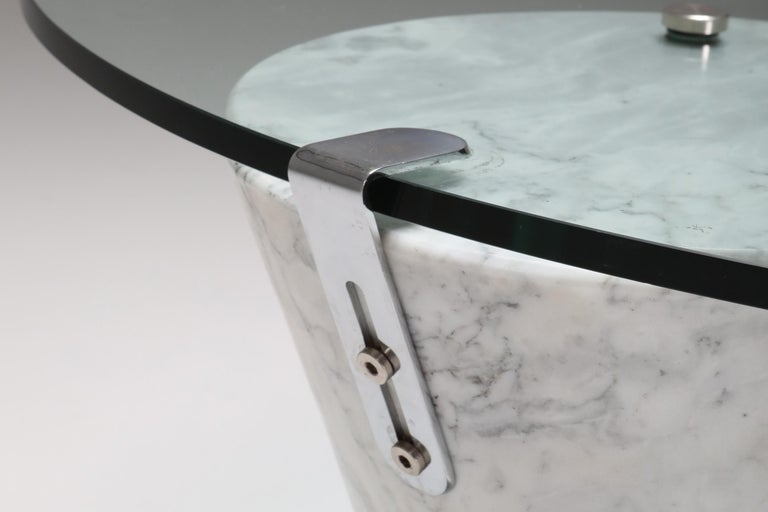 Postmodern Marble Coffee Table by Ronald Schmitt For Sale 1