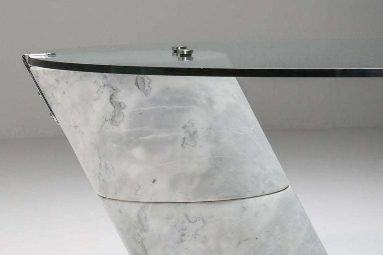 Postmodern Marble Coffee Table by Ronald Schmitt For Sale 2