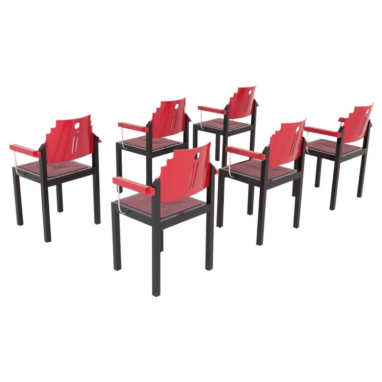 Post-Modern Memphis Style Dining Chair By Thonet For Sale