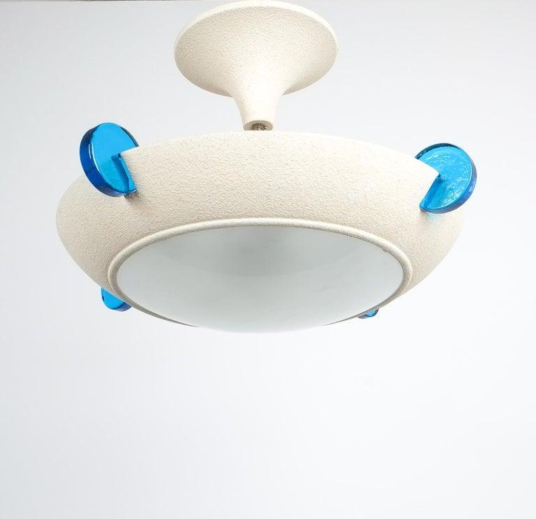 Postmodern Memphis Style Semi Flush Mount or Chandelier, Italy For Sale 2
