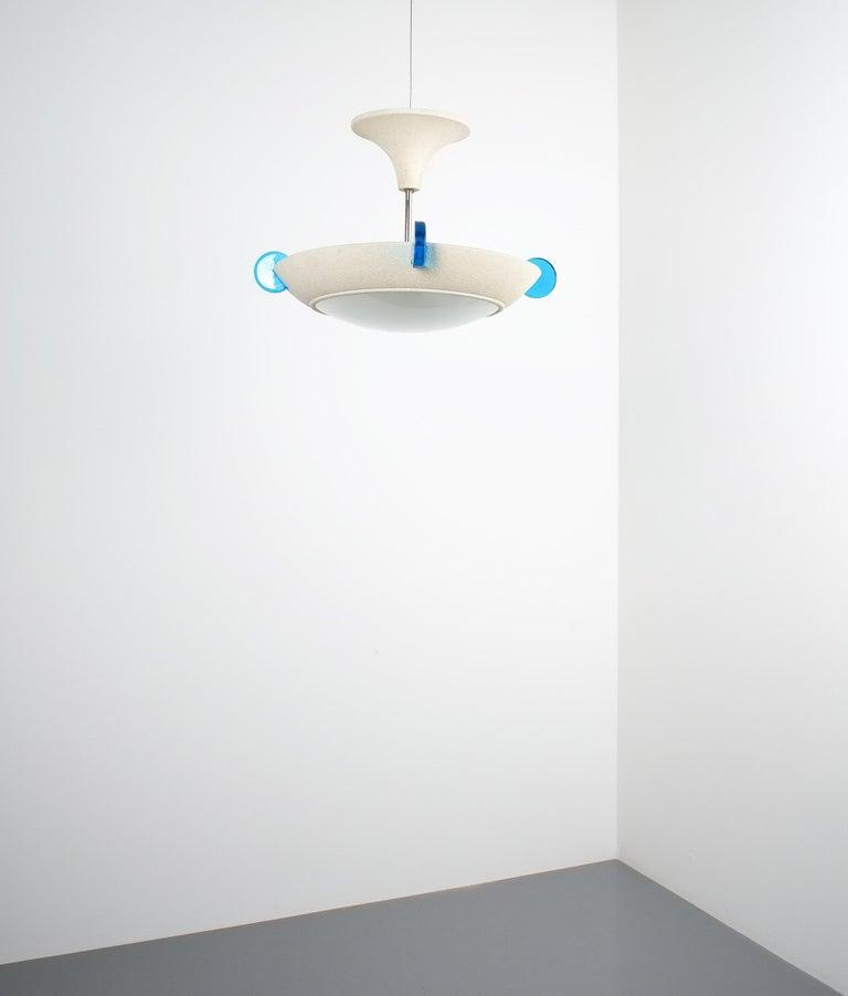 Post-Modern Postmodern Memphis Style Semi Flush Mount or Chandelier, Italy For Sale