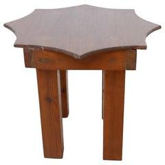 Postmodern Midcentury Star Side Table