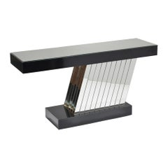 Post Modern Mirrored Console Table