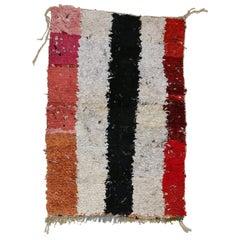 Post-Modern Moroccan Abstract Minimalist Boujad Berber Rug