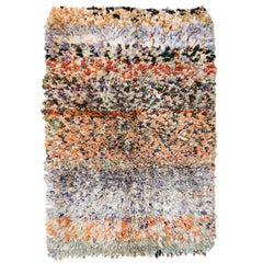 Post-Modern Moroccan Abstract Pointillist Boujad Berber Rug