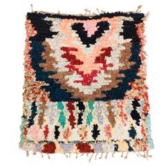 Post Modern Moroccan Boucherouite Boujad Berber Rug