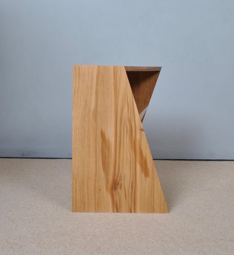 Post-Modern Oak Nightstands, Hand-Crafted End Tables  3