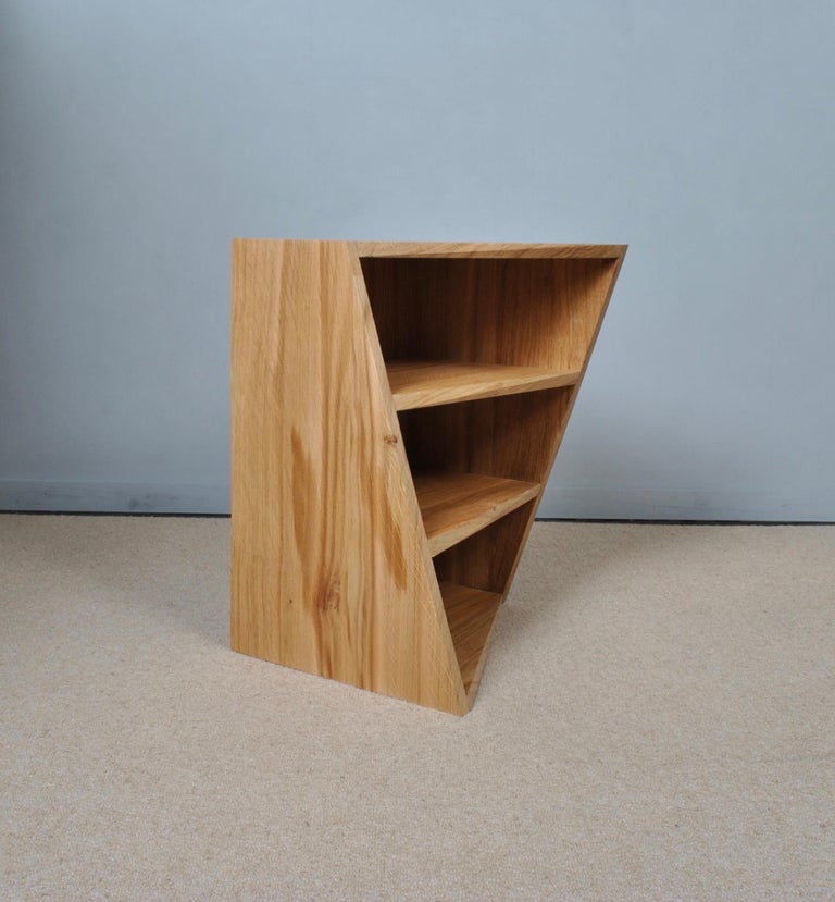 Post-Modern Oak Nightstands, Hand-Crafted End Tables  4
