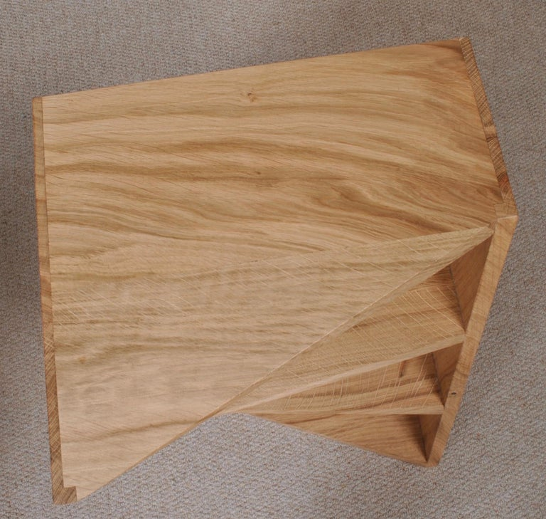 Post-Modern Oak Nightstands, Hand-Crafted End Tables  5