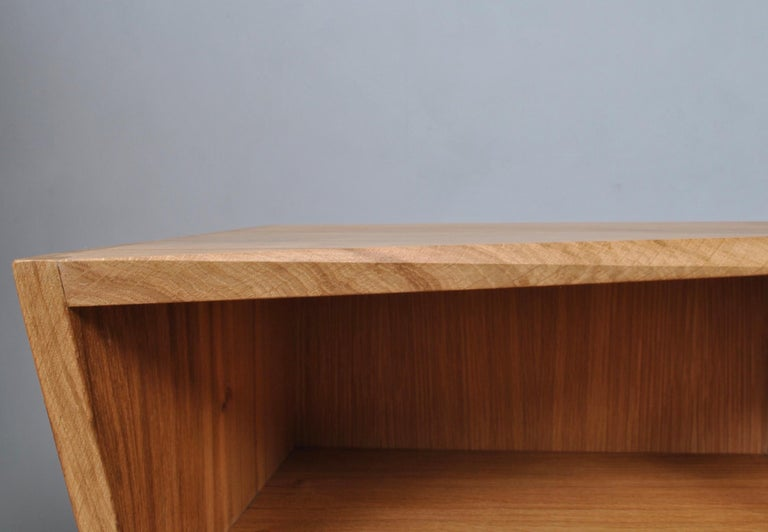 Post-Modern Oak Nightstands, Hand-Crafted End Tables  6