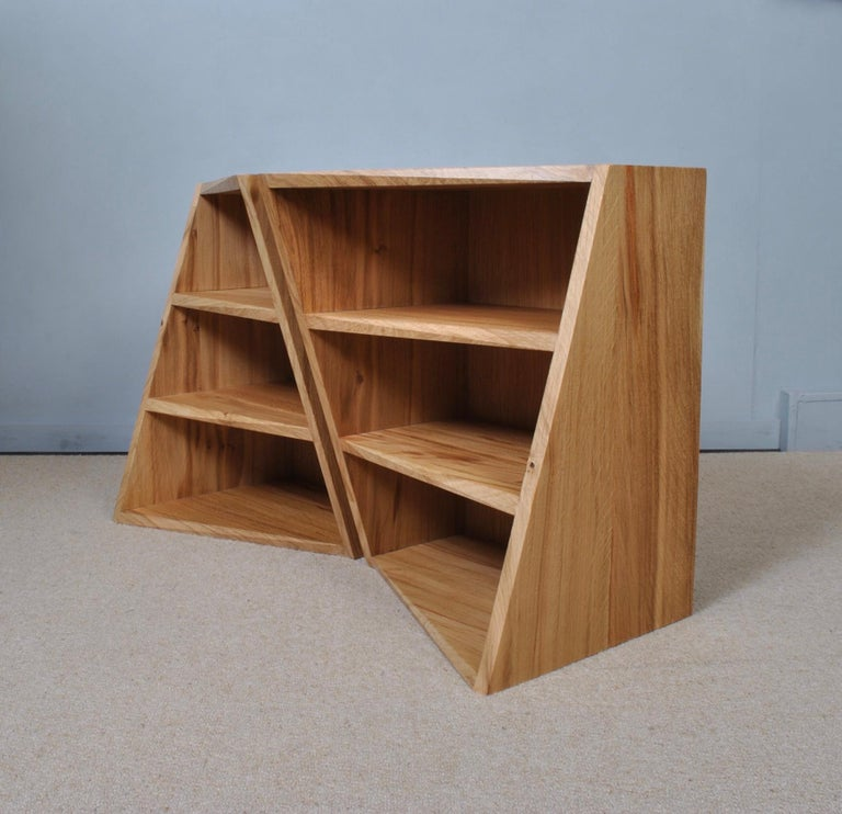 Post-Modern Oak Nightstands, Hand-Crafted End Tables  In Excellent Condition In London, GB