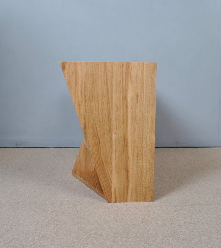 Post-Modern Oak Nightstands, Hand-Crafted End Tables  1