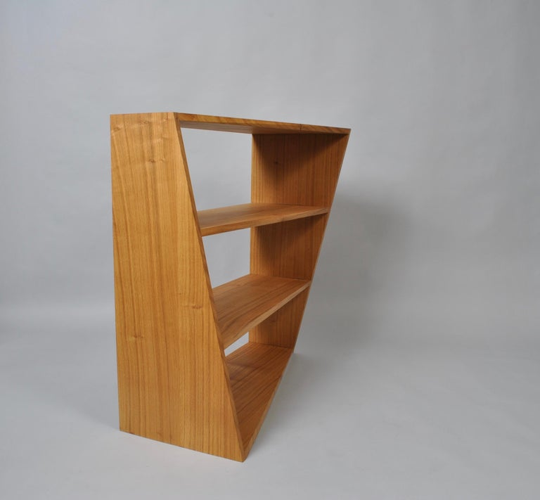 Handcrafted Post-Modern Oak Wall Unit For Sale 6