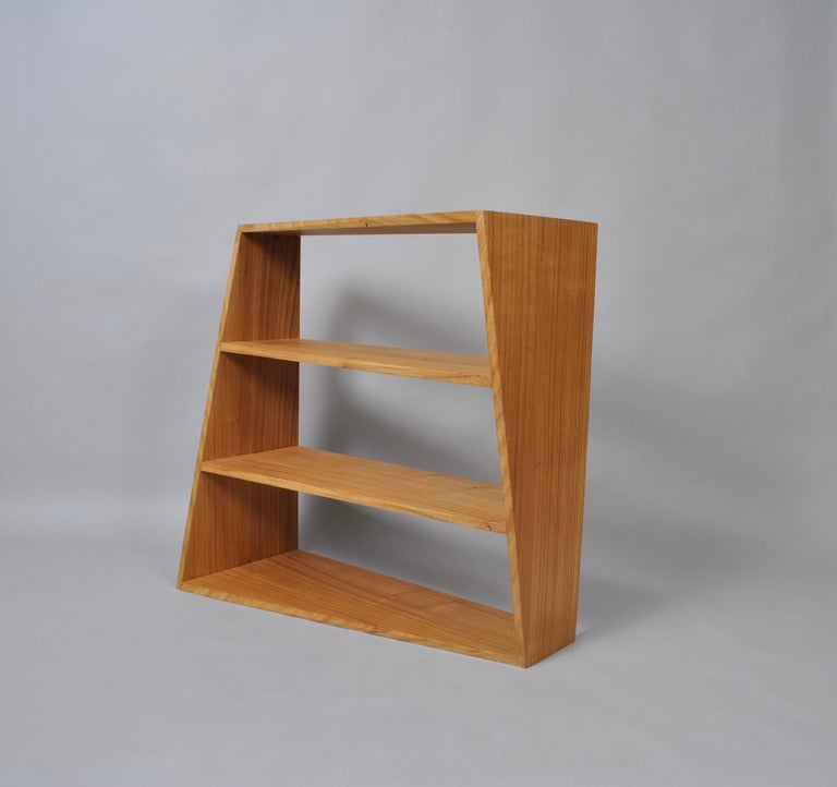 Hand-Crafted Handcrafted Post-Modern Oak Wall Unit For Sale
