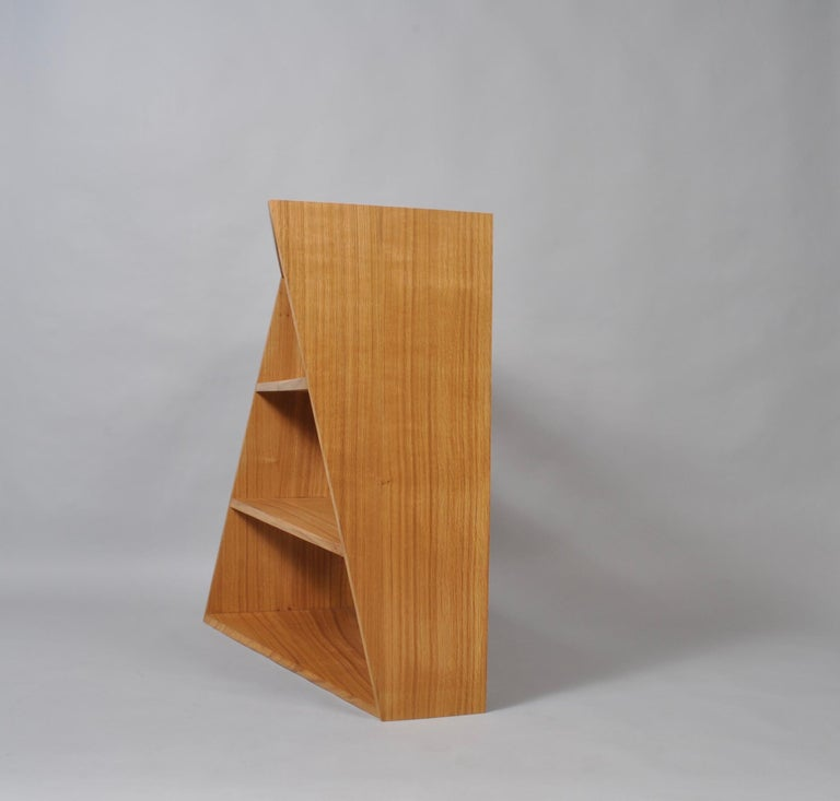 Contemporary Handcrafted Post-Modern Oak Wall Unit For Sale