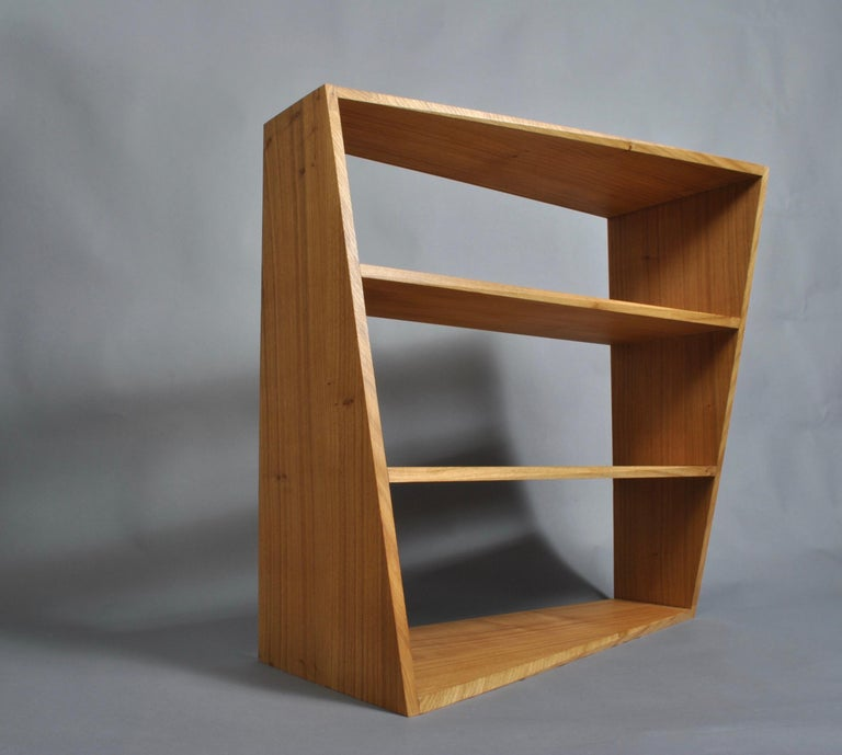 Handcrafted Post-Modern Oak Wall Unit For Sale 2
