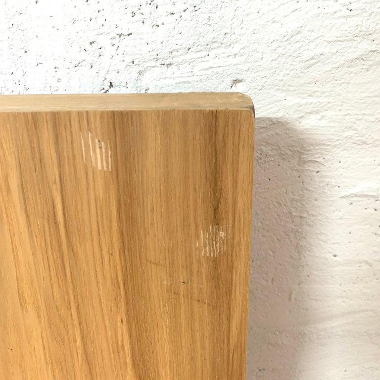 Postmodern Oak Zig Zag Chair, USA, 1980s For Sale 4