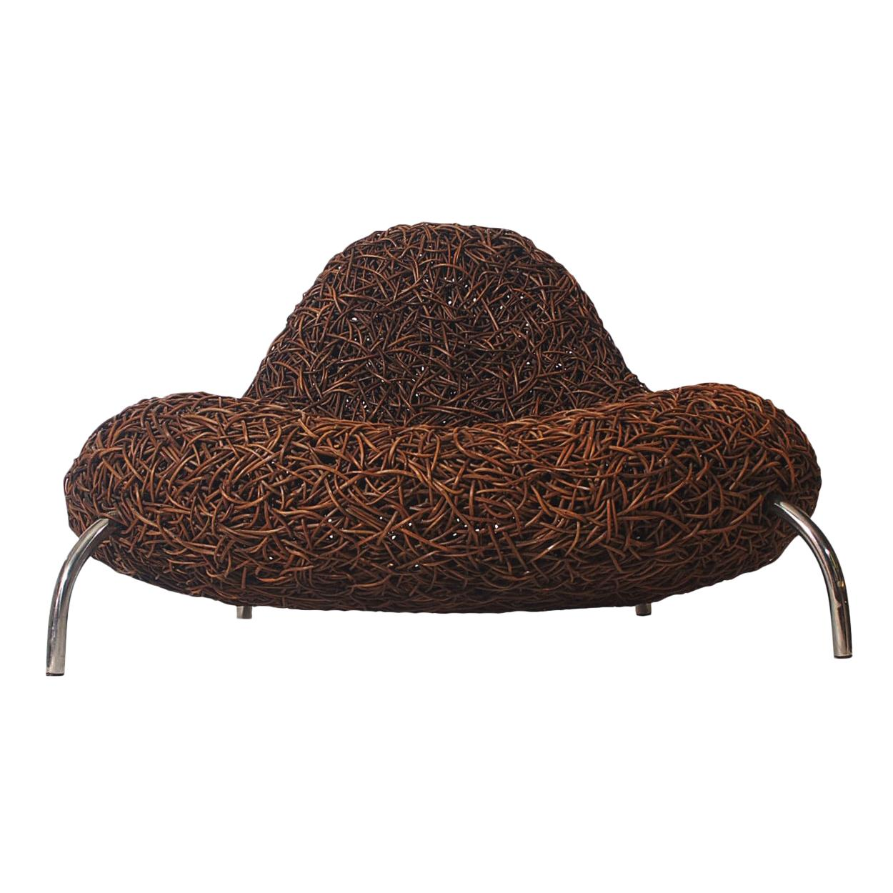 Postmodern Organic Rattan Lounge Chair by Udom Udomsrianan & Planet 2001