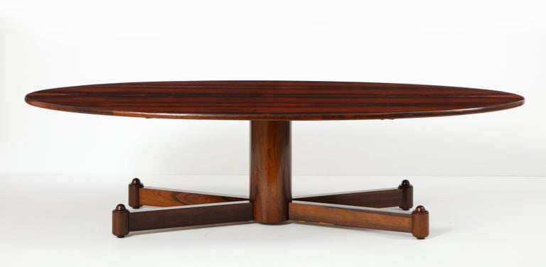 Brazilian Mid-Century Modern Oval Coffee Table, 1950s For Sale 8