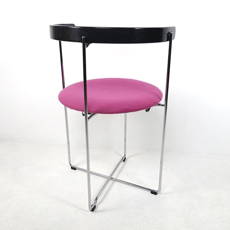 Steel Post-Modern Pair of Sóley Folding Chairs by Valdimar Hardarson for Kusch+Co. For Sale