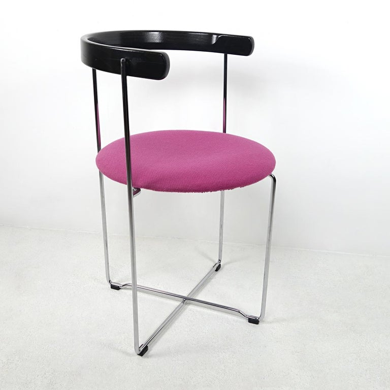 Post-Modern Pair of Sóley Folding Chairs by Valdimar Hardarson for Kusch+Co. For Sale 2