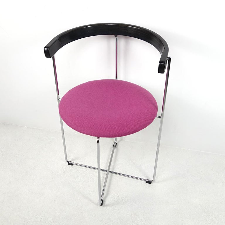 Post-Modern Pair of Sóley Folding Chairs by Valdimar Hardarson for Kusch+Co. For Sale 3