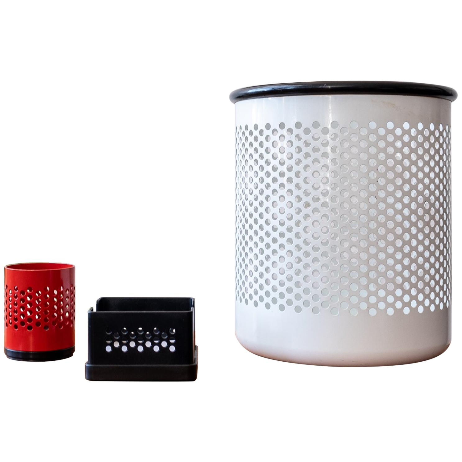 Postmodern Perforated Desk Set by Barbieri & Marianelli for Rexite