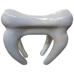 Postmodern Plaster Table in the Shape of a Tooth
