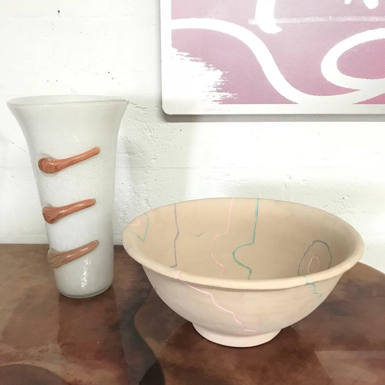 Postmodern Pottery Centrepiece Bowl or Fruit Bowl For Sale 3