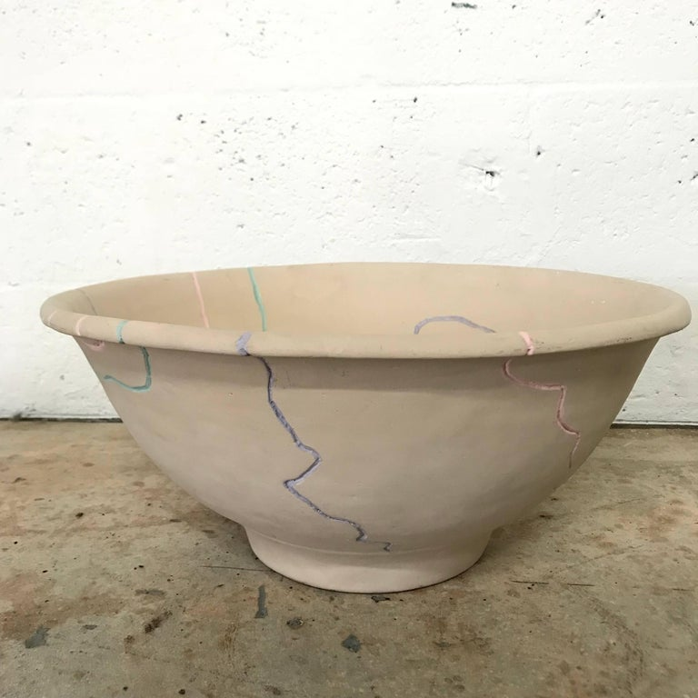 American Postmodern Pottery Centrepiece Bowl or Fruit Bowl For Sale