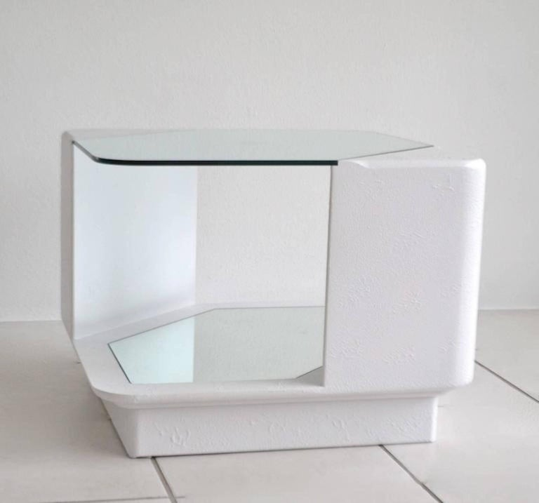 Lacquer Post-Modern Side Table For Sale