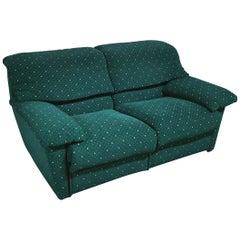 Postmodern Sofa Relax by Pol 74 at 2-Seat in Green Velvet Italian Design, 1990