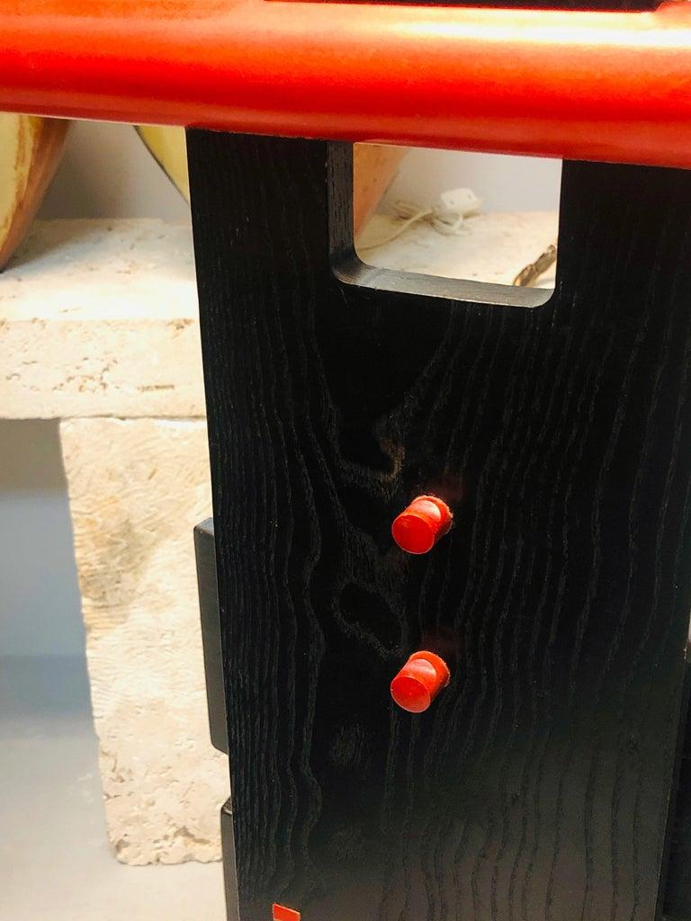 Post Modern Studio Chair Sculpture Valet in Ebonized Oak For Sale 5