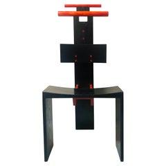 Post Modern Studio Chair Sculpture Valet in Ebonized Oak