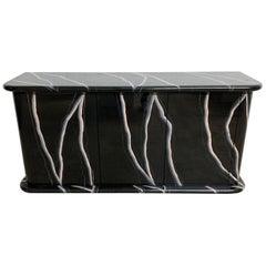 Postmodern Trompe l oeil Lighting Marble Buffet or Sideboard Credenza