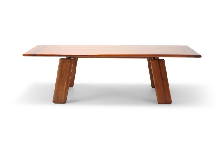 Post-Modern Postmodern Walnut Dining Table by Afra & Tobia Scarpa For Sale