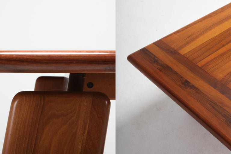 19th Century Postmodern Walnut Dining Table by Afra & Tobia Scarpa For Sale