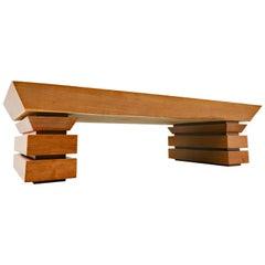 Post Modernist Coffee Table, Oak, 1980s