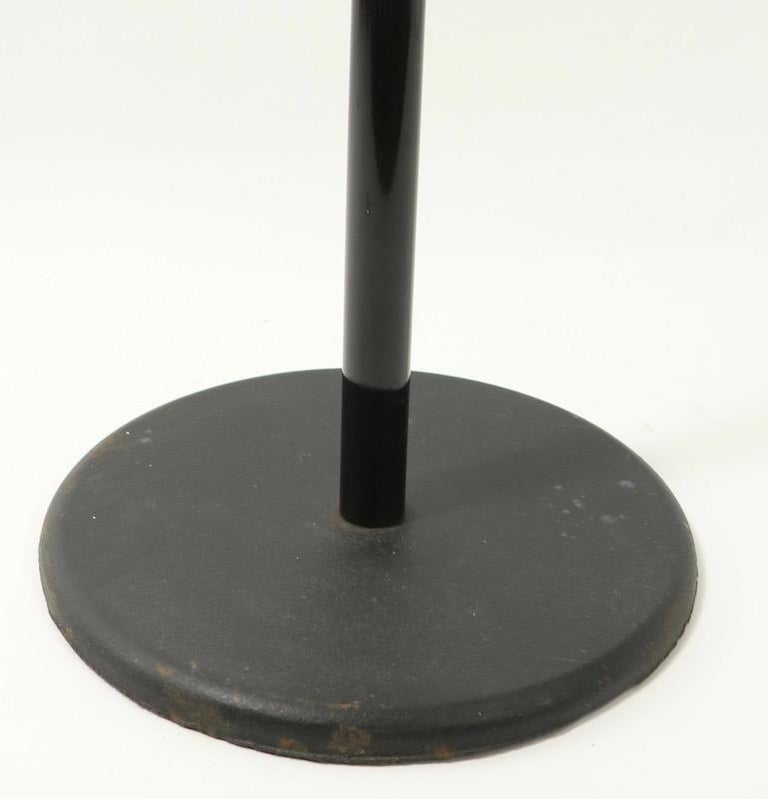 Post Modernist Italian Black Lacquered Coat Tree Stand For Sale 2
