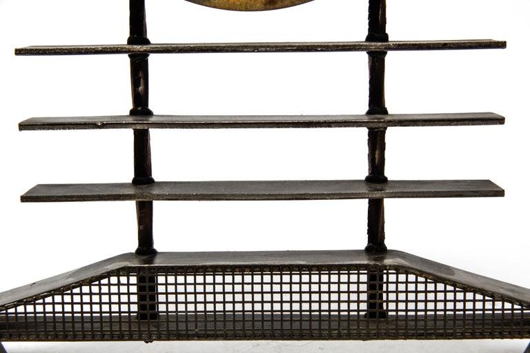 Post-Modernist Metal Mantel Clock For Sale 3