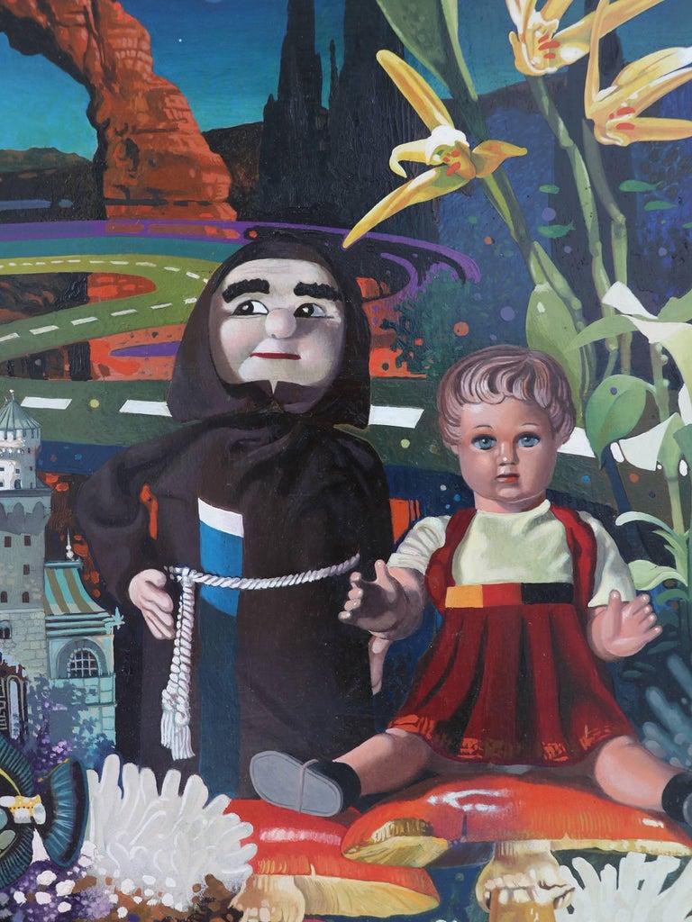 Post surrealist oil painting