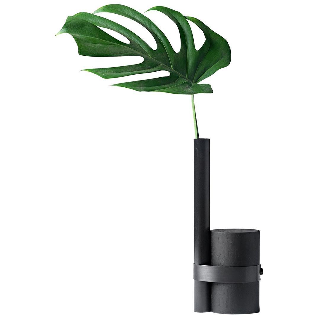 Post-Tropical Vase in Black by Wentz, Brazilian Contemporary Design