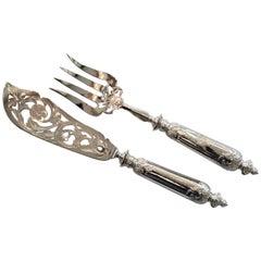 Post War Fish Knife and Fork Serving Set