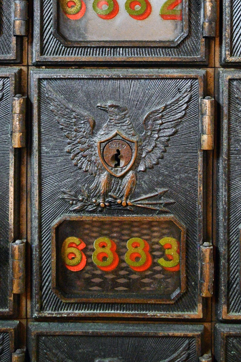 Early 20th Century Postal Mailbox Unit For Sale