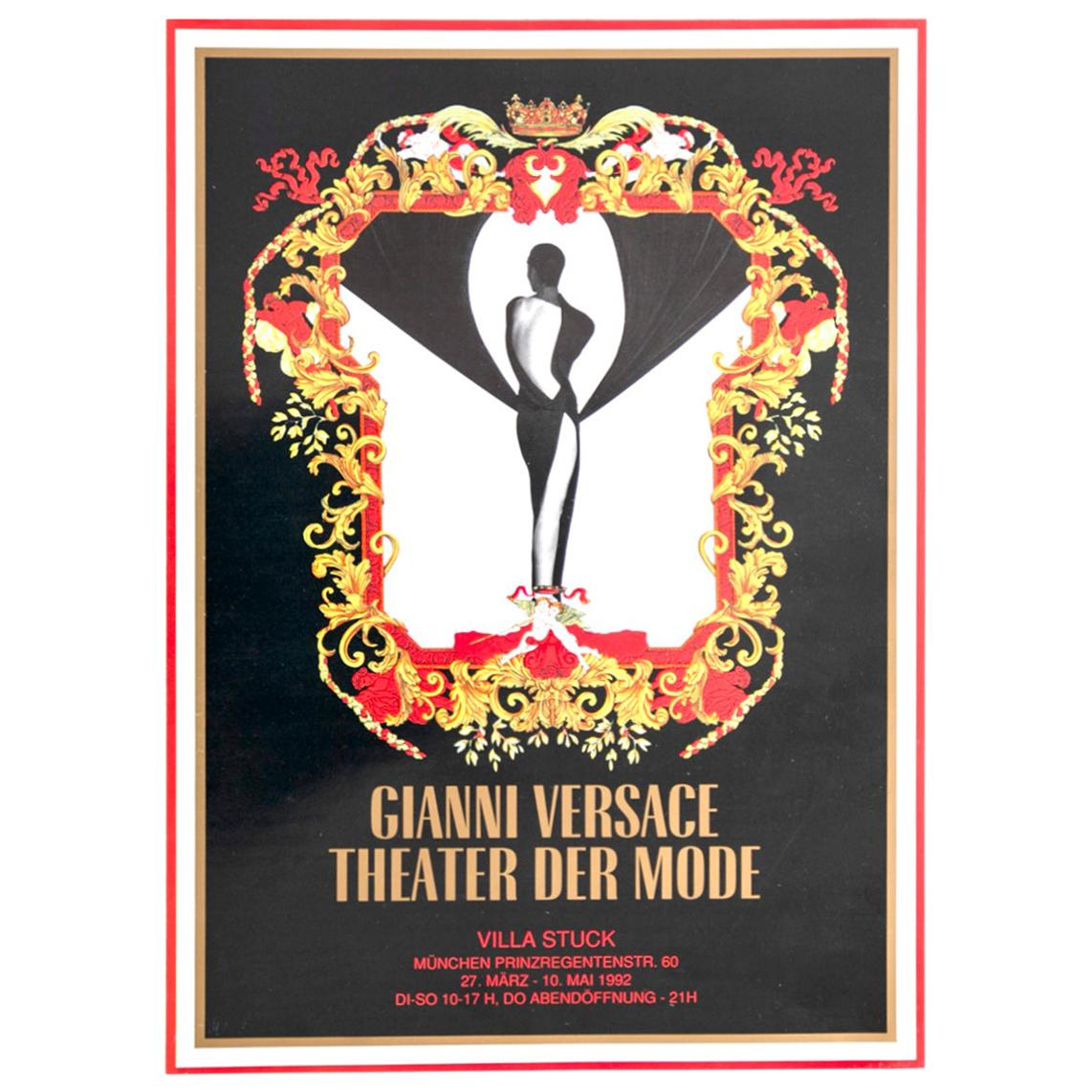 """Poster Gianni Versace for """"Theater der Mode"""" for Villa Stuck, 1992"""