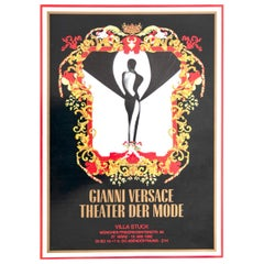 "Poster Gianni Versace for ""Theater der Mode"" for Villa Stuck, 1992"