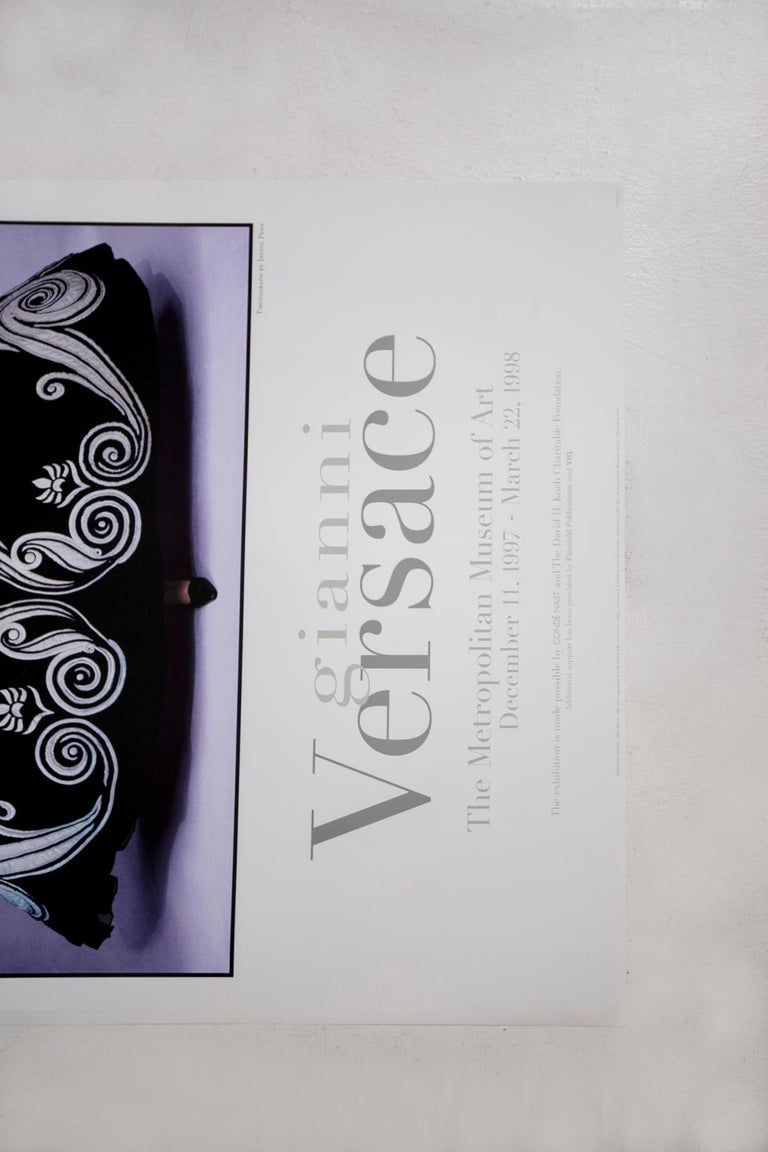 Post-Modern Poster Gianni Versace Metropolitan Museum of Art Photo by Irving Penn, 1997 For Sale