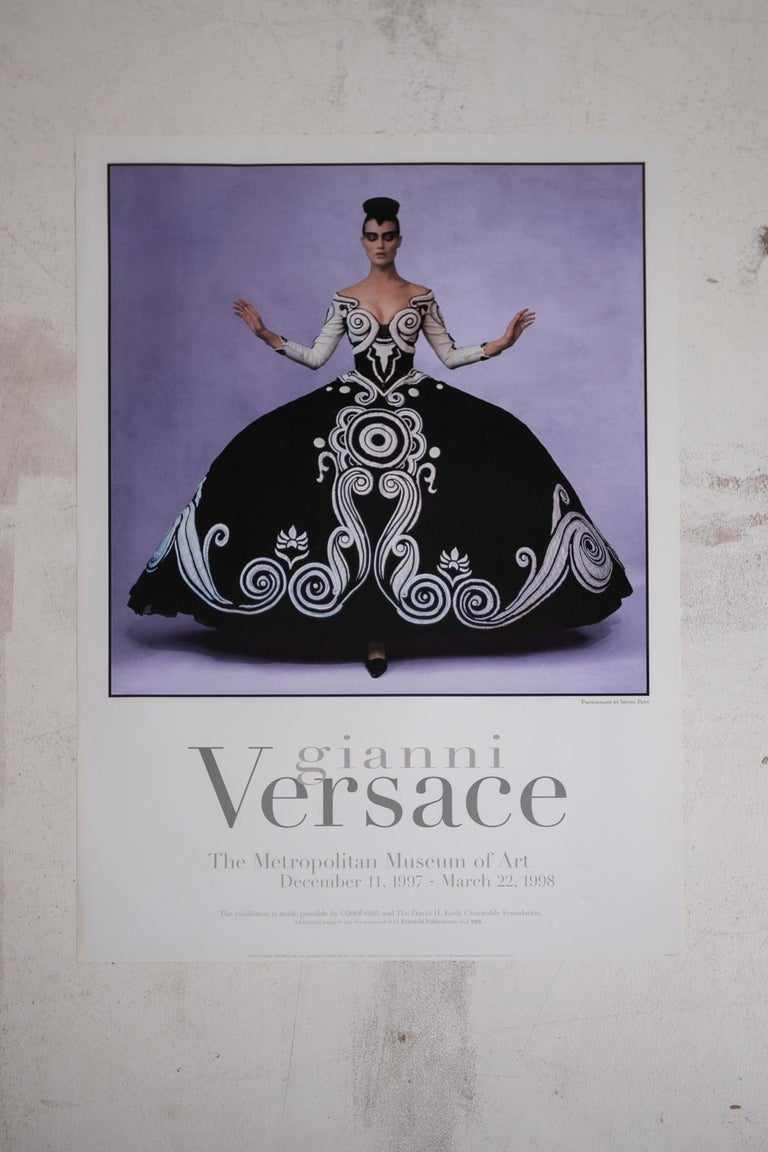 American Poster Gianni Versace Metropolitan Museum of Art Photo by Irving Penn, 1997 For Sale