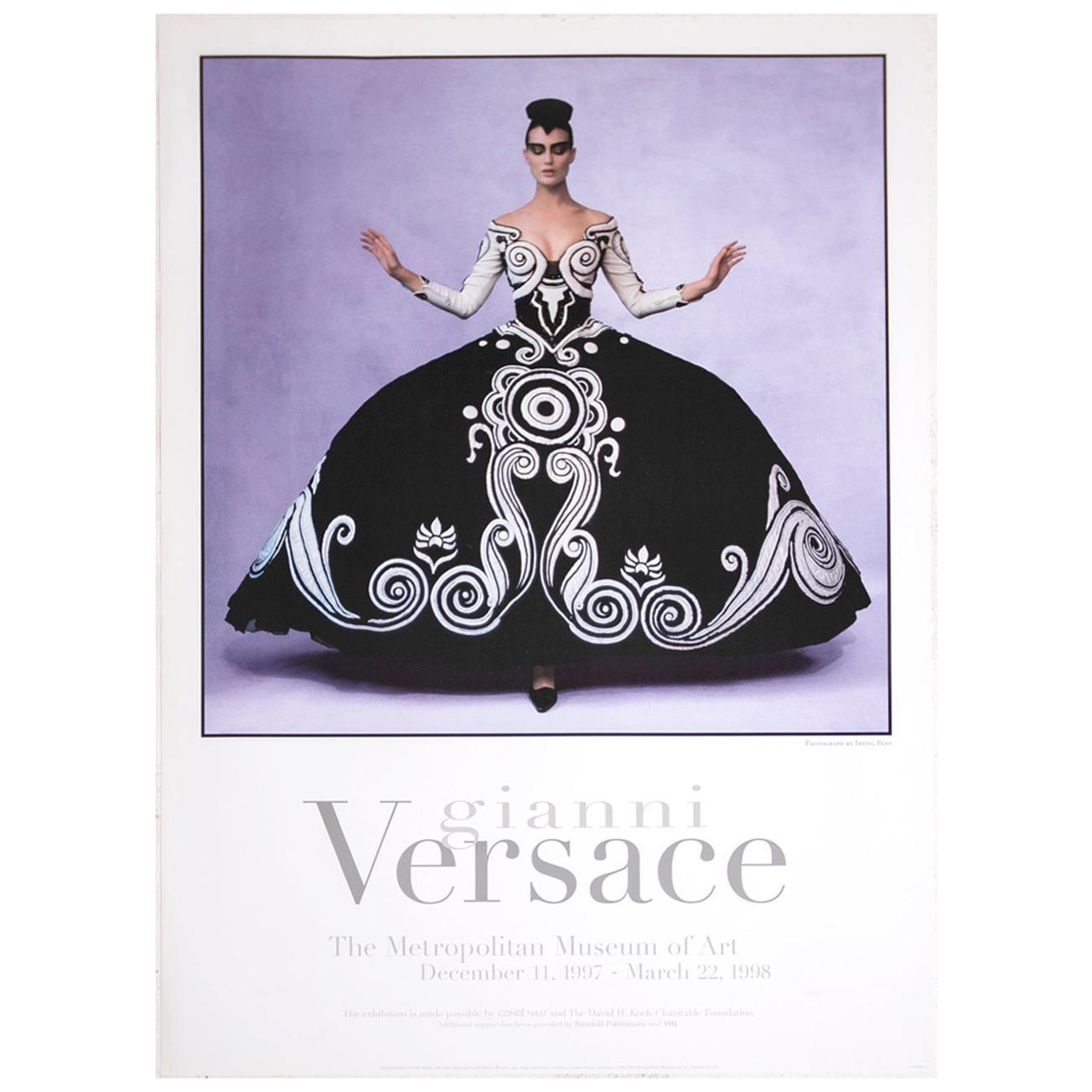 Poster Gianni Versace Metropolitan Museum of Art Photo by Irving Penn, 1997
