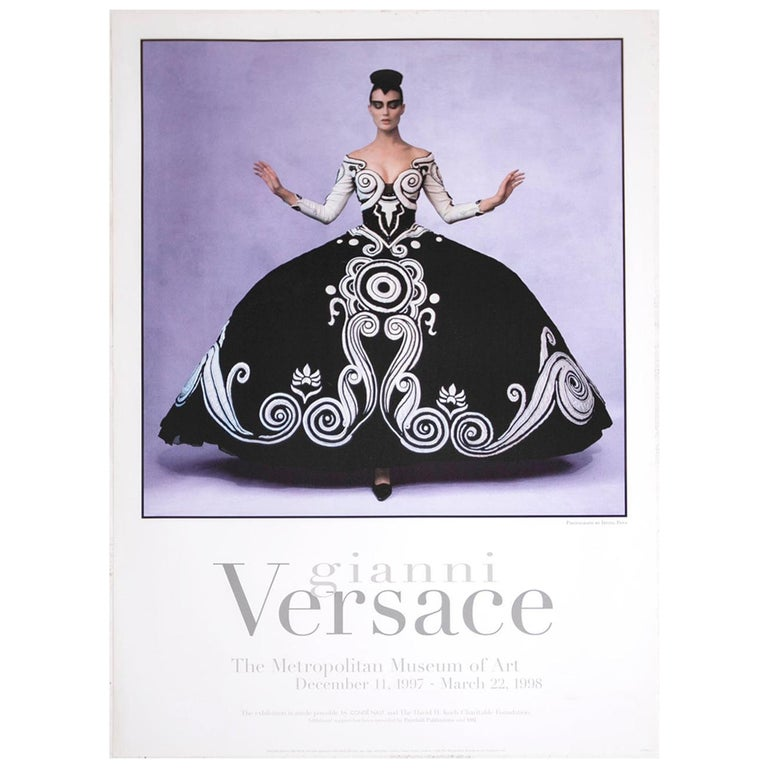 Poster Gianni Versace Metropolitan Museum of Art Photo by Irving Penn, 1997 For Sale